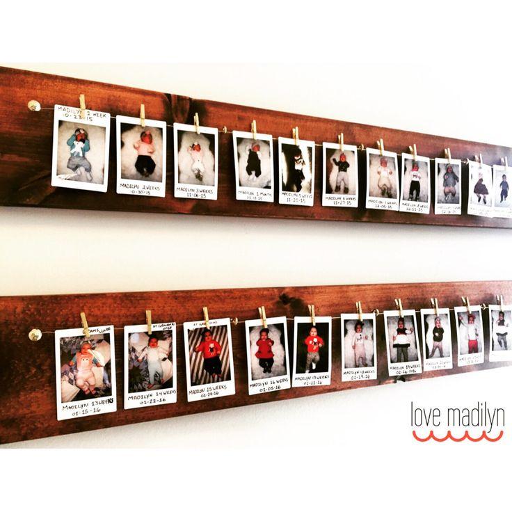 Polaroid Photo Display **   Handmade stained wood photo display   @lovemadilyn