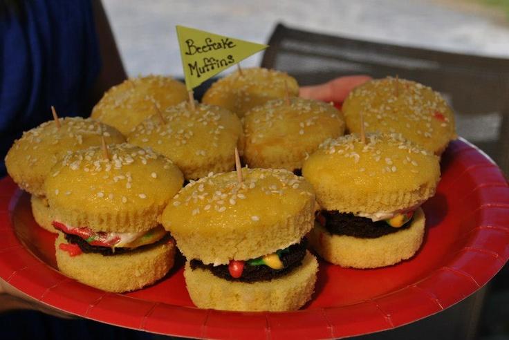 Burger Cupcakes  ``Beefcake Muffins``