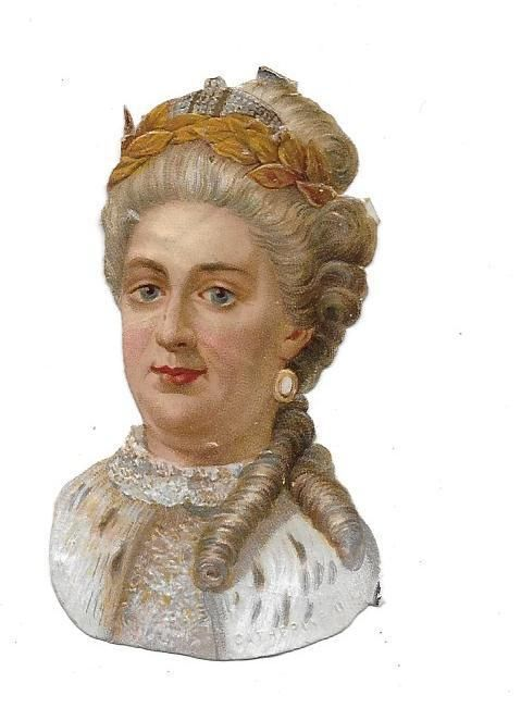 Victorian Die Cut Scrap Queen Catherine II of Russia: