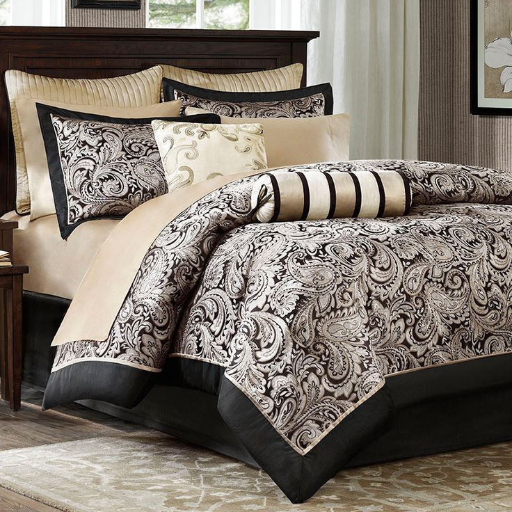 madison park aubrey 12 piece comforter set reviews wayfair