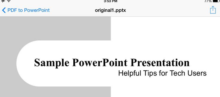 Free PDF to PowerPoint converter for your iPad or iPhone