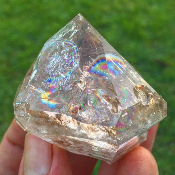 Rainbow Herkimer Diamond Smoky Smokey Quartz Crystal Point > New York
