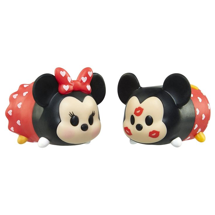 Amazon.com: Tsum Tsum Valentine's Day Mickey and Minnie Tsweeties Gift Set: Toys & Games