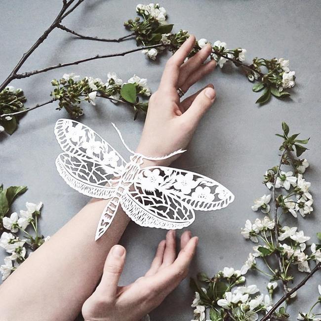 Kağıt Kesme Sanatıyla Moda İllüstrasyonları Tasarlayan Sanatçı: 'Eugenia Zoloto' Sanatlı Bi Blog 19