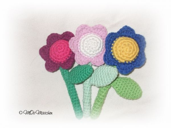 Kostenlose Häkelanleitung für Bunte Blumen