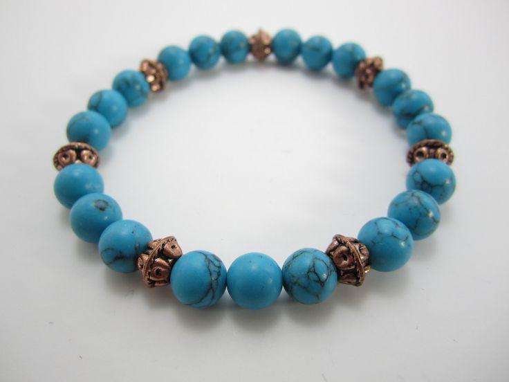Teens Turquoise Bead Bracelet Teen Boys or Girls Bracelet Kids Bracelet, Girls Bracelet Jewelry Accessories Kids by addieandem on Etsy