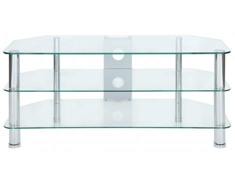 LEVV clear glass TV stand | The Plasma Centre
