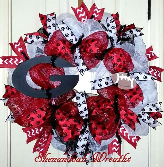 Georgia Bulldogs wreath Georgia wreath collegiate wreath