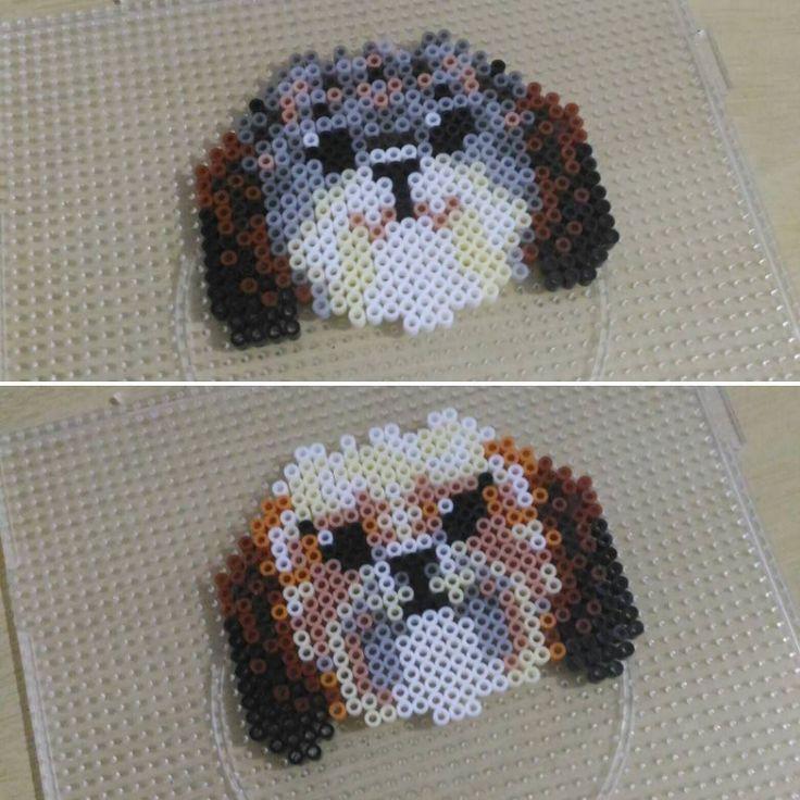 Teste de dog: Shih Tzu! #dog #cachorro #instadog #shitzu #perler #perlerbeads