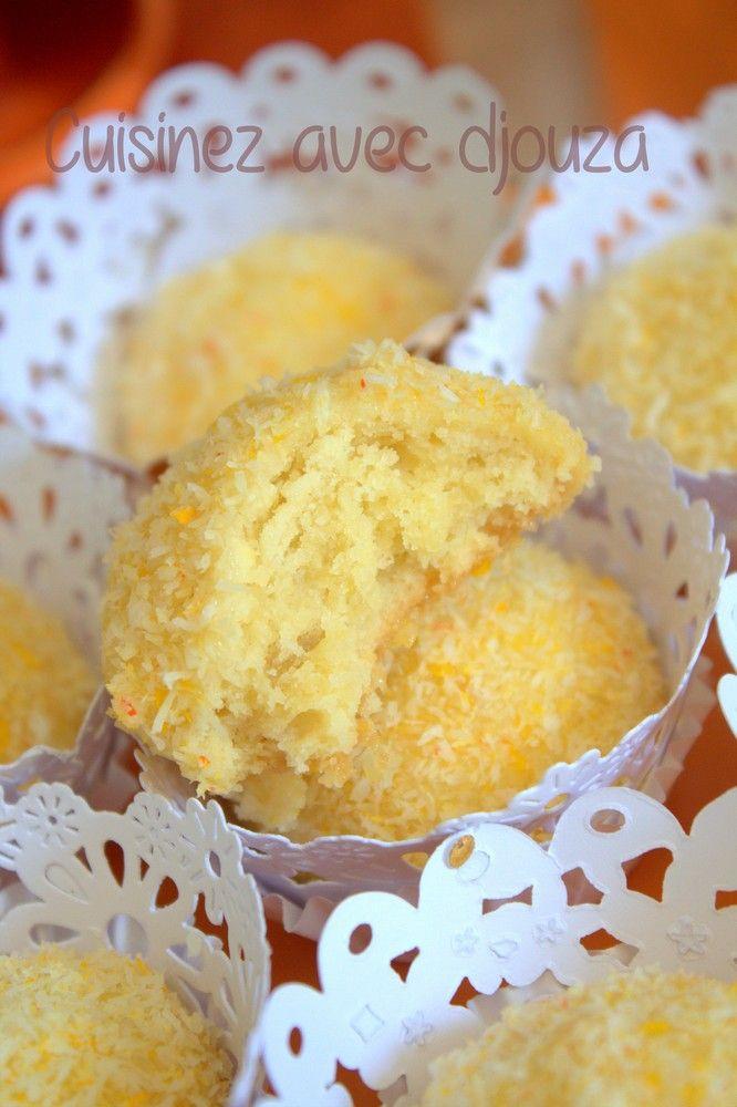 Recette boule de coco au citron confit et noix de coco