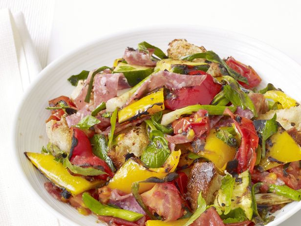 Grilled Panzanella Salad Recipe : Food Network Kitchen : Food Network