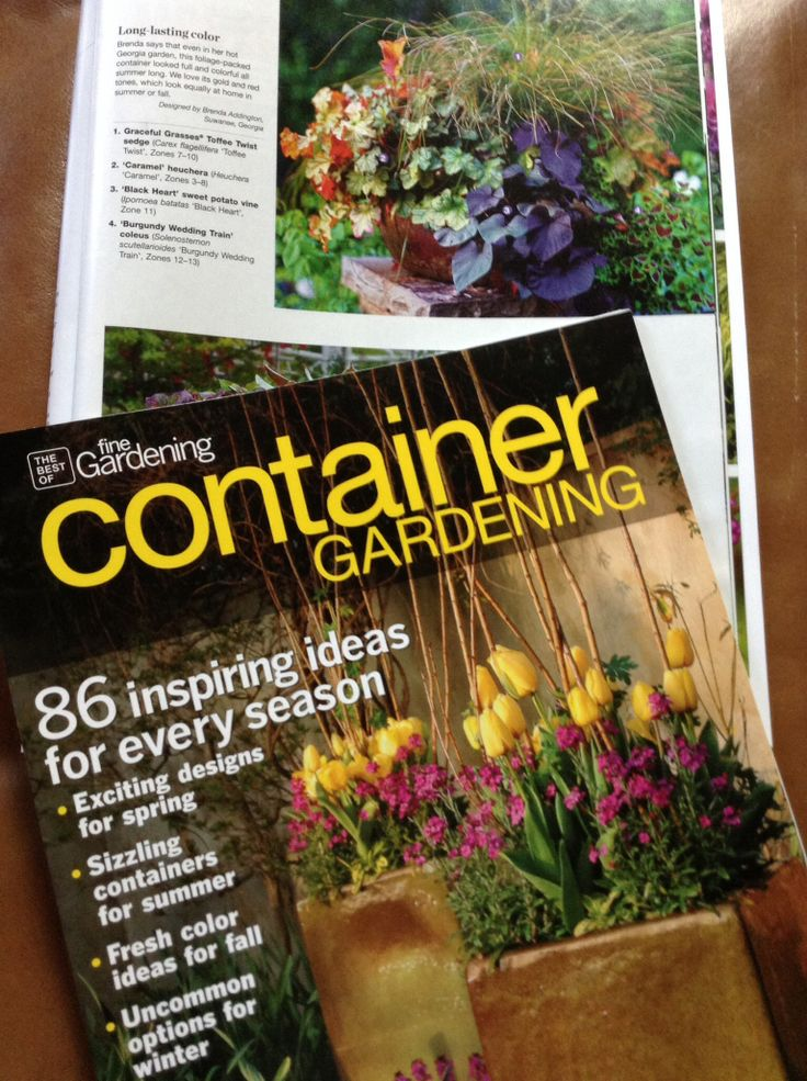 Tickled that Im in the 2014 summer issue of Fine Gardening's 'Container Gardening' magazine. Pick up a copy! www.thegracefulgardener.com