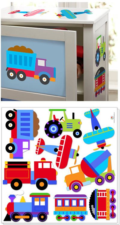 room decals transportation theme | Trains, Planes and Trucks Decals
