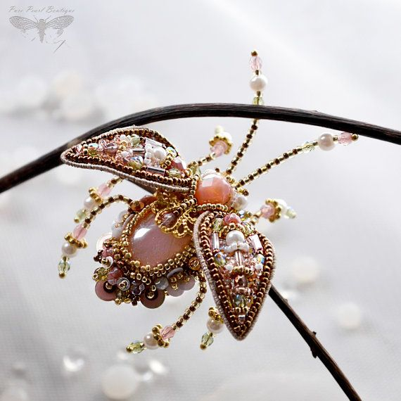 Feminine jewelry Beetle Brooch Insect jewelry by PurePearlBoutique