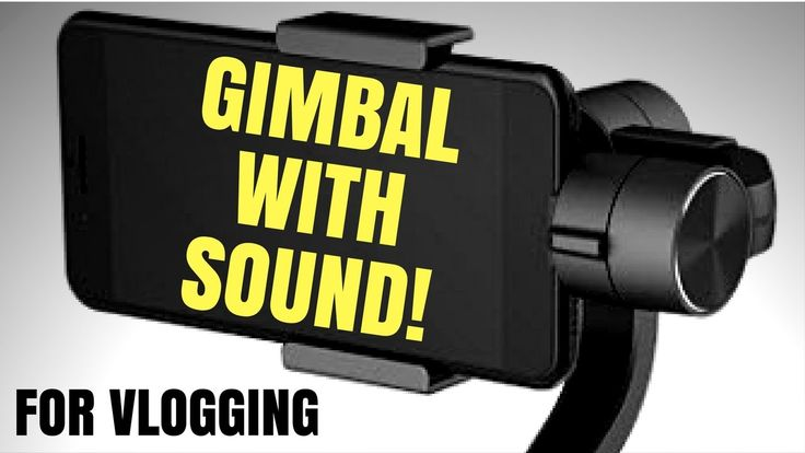 Smartphone Gimbal For Vloggers With Sound!