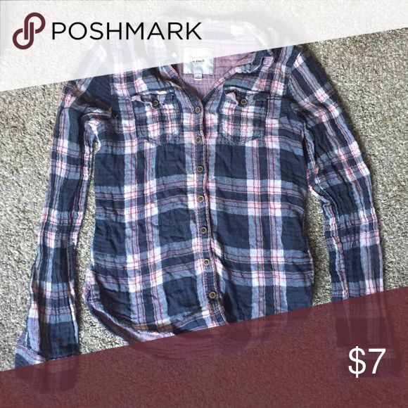 Abercrombie & Fitch flannel Abercrombie & Fitch pink, blue, and white flannel. In good condition. Abercrombie & Fitch Tops Button Down Shirts