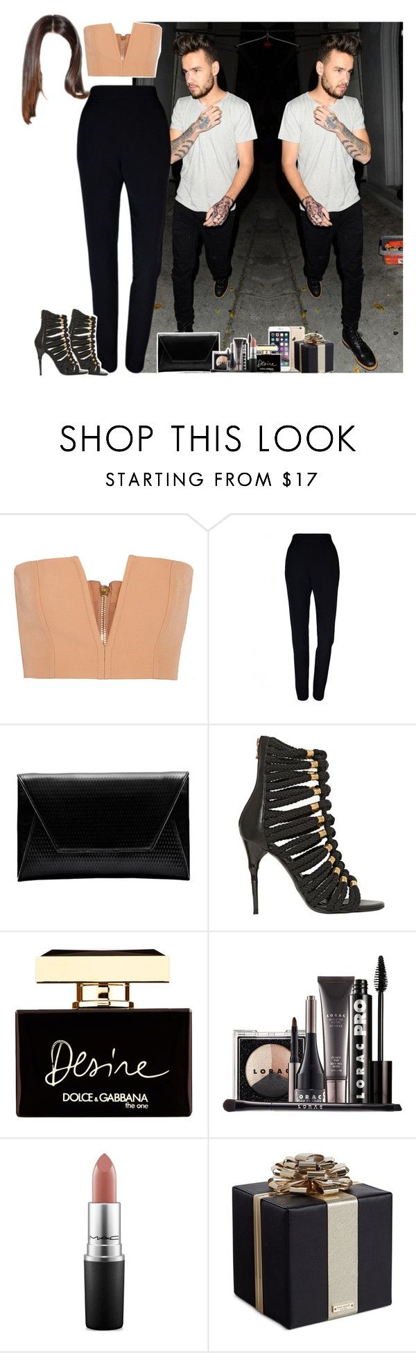 """""""Niall's birthday party with Liam"""" by fxrever-isnt-for-everyone ❤ liked on Polyvore featuring Payne, Balmain, Plakinger, Flynn, Dolce&Gabbana, LORAC, MAC Cosmetics, Kate Spade and LiamPayne"""