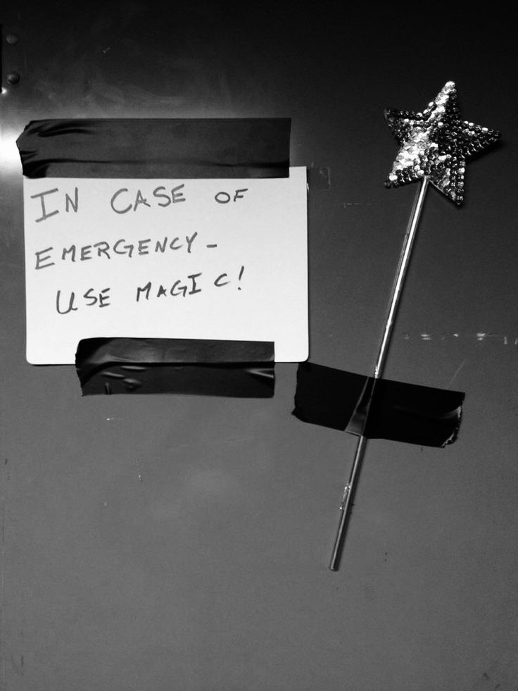 In case of emergency - USE MAGIC! ; )