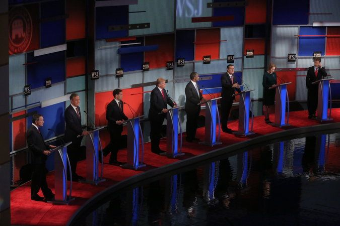 Nov. 11, 2015 - New York Times - Candidates sharply divided on immigration at Republican debate