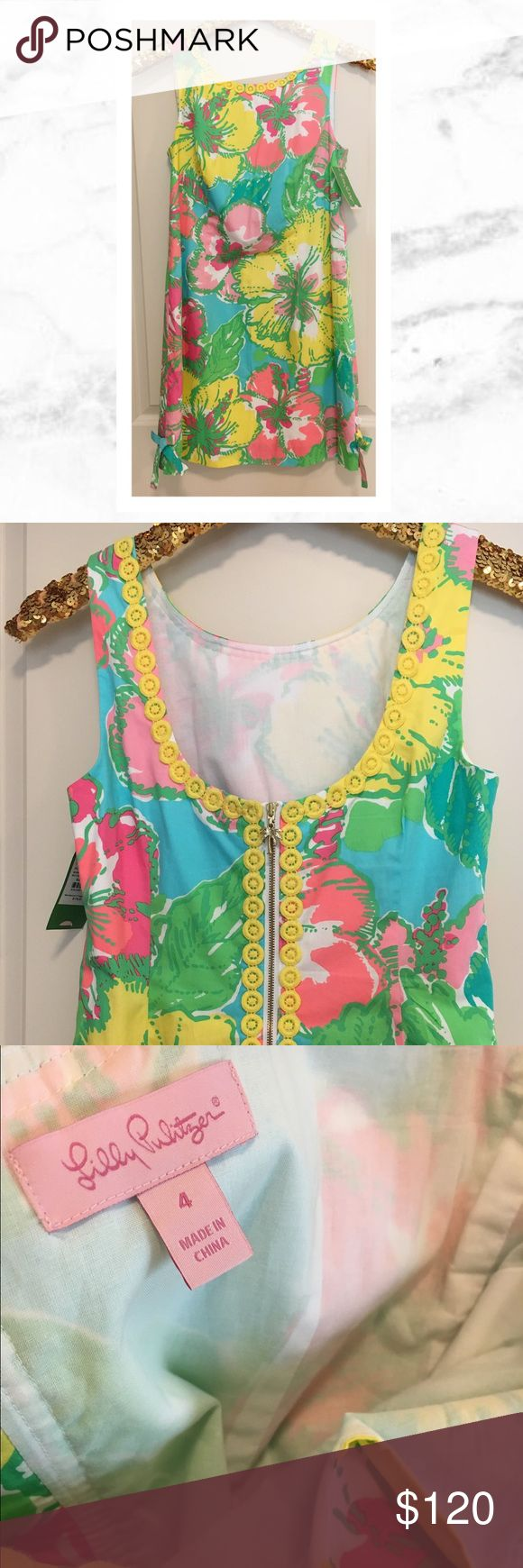 Lilly Pulitzer Delia Shift Dress Lilly Pulitzer Delia Shift Dress in size 4 New With Tags! Pattern is 'Big Flirt.' Super cute 100% authentic Lilly. Be extra cute this spring! Lilly Pulitzer Dresses