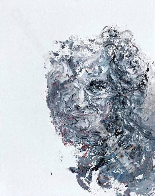 Maggi Hambling, Self Portrait 'Winter'  Oil on canvas  19⅞ x 15⅞in. (50.7 x 40.4cm.)