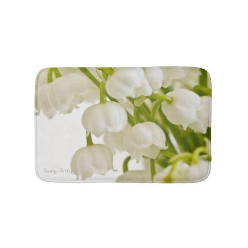 White Lilies Bath Mats