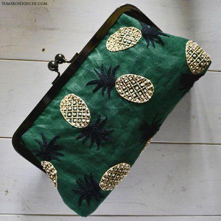 Pineapple pouch by Yumiko Higuchi