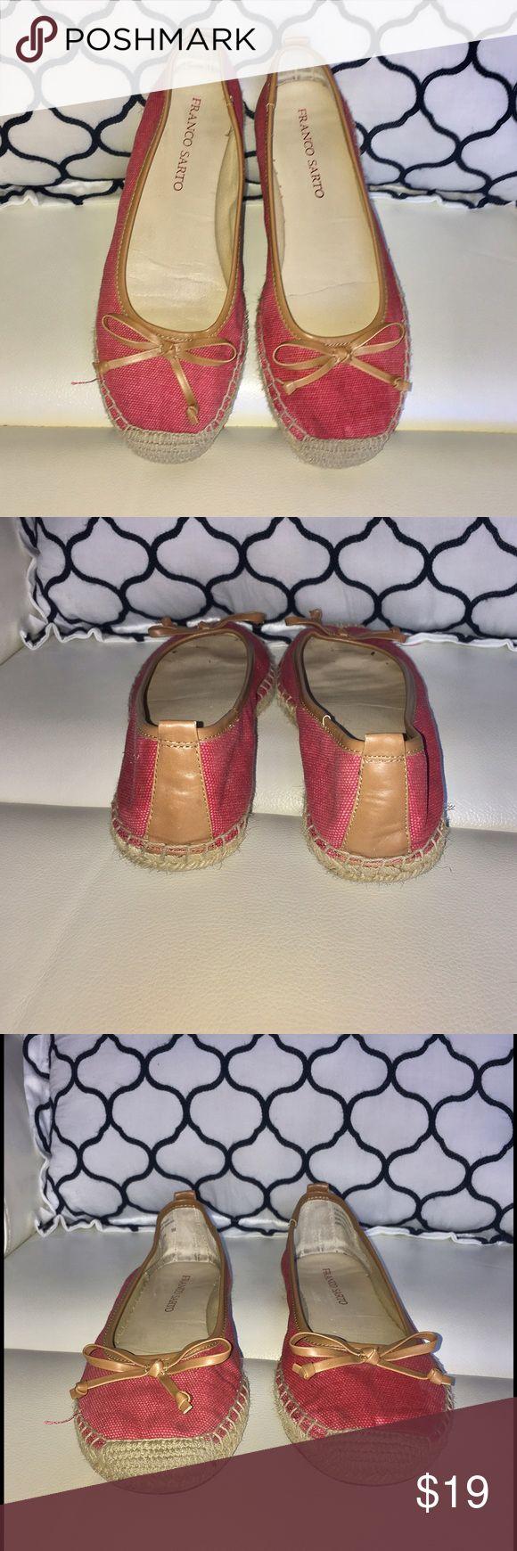 💕Franco Sarto  Espadrilles Canvas Slip On Shoes💕 Franco  Green Espadrilles Canvas Slip On Shoes used good condition  comfortable Franco Sarto Shoes Espadrilles