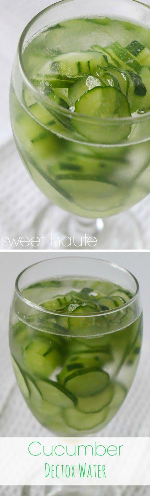 Cucumber Detox Water + Essential Oil Lime- SWEET HAUTE antioxidants, natural weight management benefits