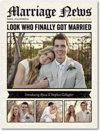 Marriage announcement idea