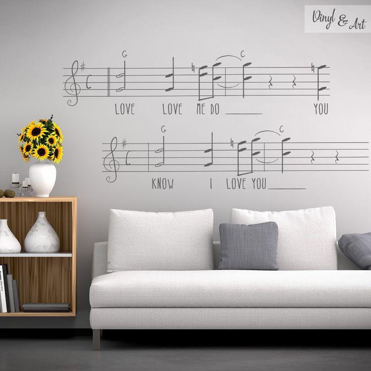 Vinilo Adhesivo Decorativo Music & Fun - Partitura Love Me Do. La canción comenzaba con una armónica de blues tocada por John Lennon, agregándose Lennon y McCartney con las voces principales simultáneamente, George Harrison intervino en la armonía vocal. Nos ha inspirado esta canción de The Beatles y hemos creado un vinilo adhesivo decorativo Partitura Love Me Do. #vinilos #adhesivos #decorativos #vinylandart #arte #diseño #inspiración #thebeatles #lovemedo www.vinylandart.com