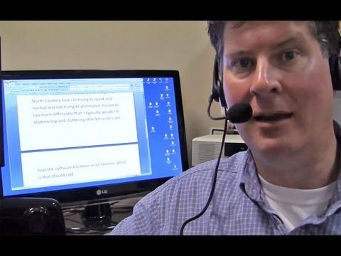 Dragon Naturally Speaking Premium - Voice Recognition Software Test and Review - YouTube