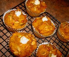 Tim Horton's Copycat Pumpkin Spice Muffins recipe...very good but not exactly like Tim Horton's muffins....the muffin is a bit heavier and I think the pumpkin seeds need to be toasted before putting them into the muffin mixture