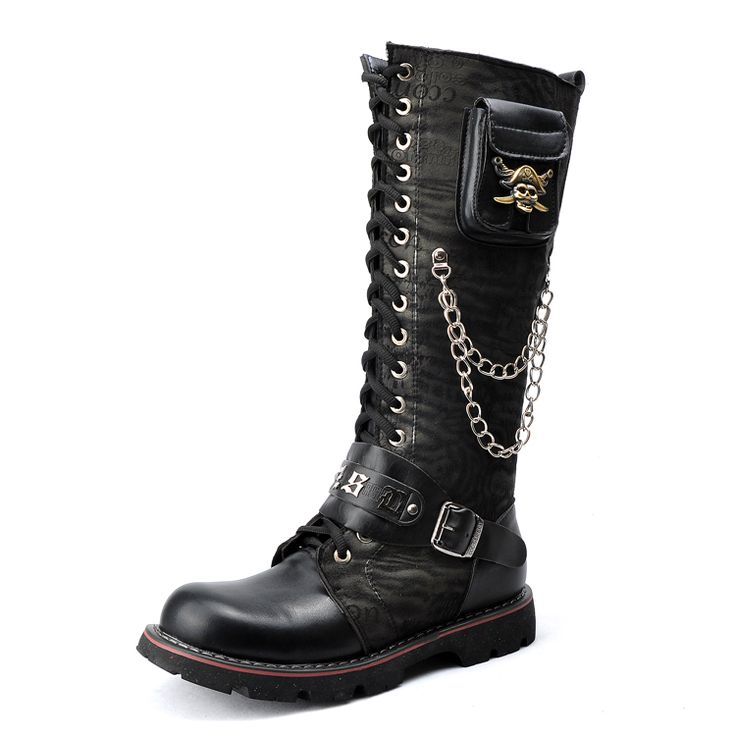 Cheap Men's Boots on Sale at Bargain Price, Buy Quality boots hole, boot camel, boots cross from China boots hole Suppliers at Aliexpress.com:1,Decorations:Chains 2,With Platforms:Yes 3,is_customized:Yes 4,Boot Height:Knee-High 5,Leather Style:Nubuck Leather
