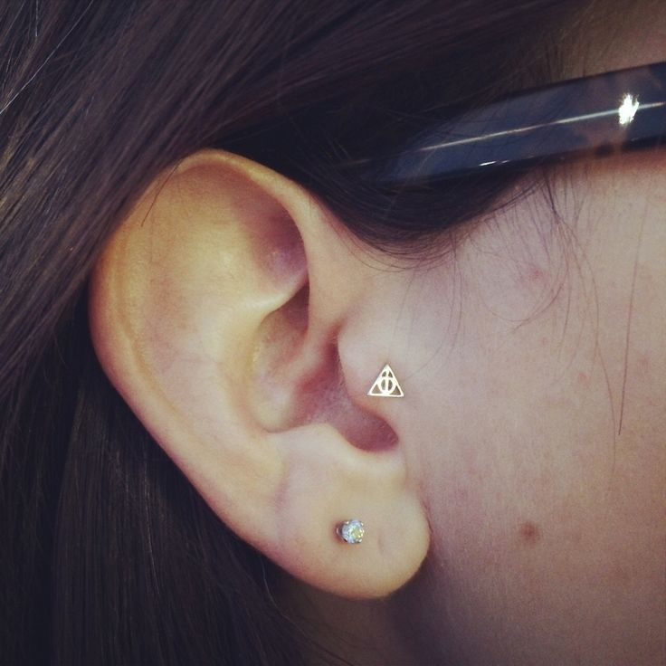 Harry Potter deathly hallows Tragus piercing