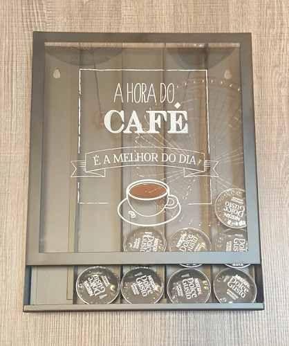 Quadro Porta Cápsulas Dolce Gusto Hora Do Café - R$ 114,90 em Mercado Livre