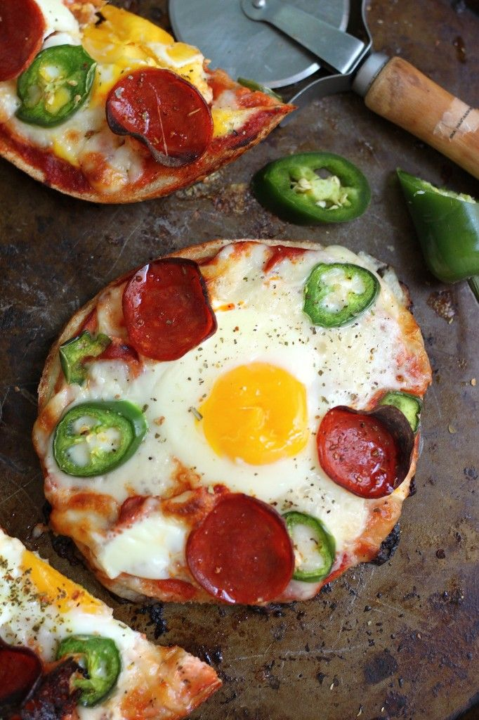 Breakfast Pizza Bagels #recipe