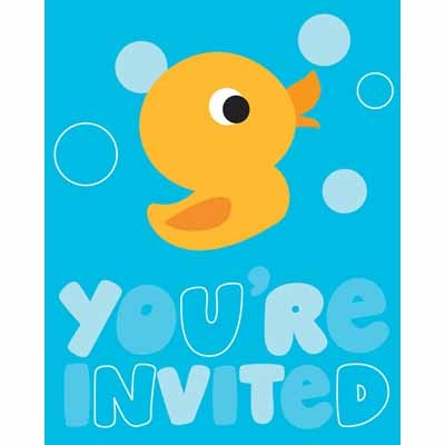Rubber Ducky Baby Shower Invitations that are great for either a boy or girl baby shower