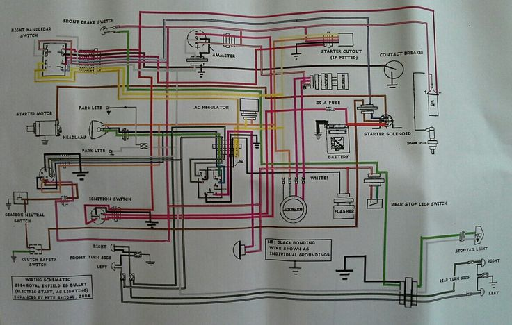 Electric Scooter Wiring Diagram