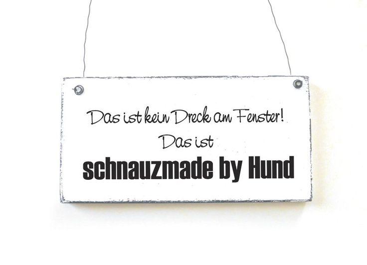 Dekoschild Holzschild Vintage SCHNAUZMADE BY HUND von DÖRPKIND auf…