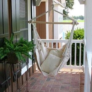 Brazilian Swing Chair Now Hangs In The Corner By The Window.