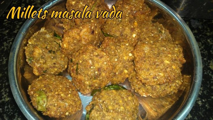 Millets masala vada - Millets masala vada prepared with Pearl millet, sorghum, green moong dal and brown chickpeas. I soaked all the ingredients in water over night. And ground in a mixie jar along with ginger and fennel seeds …