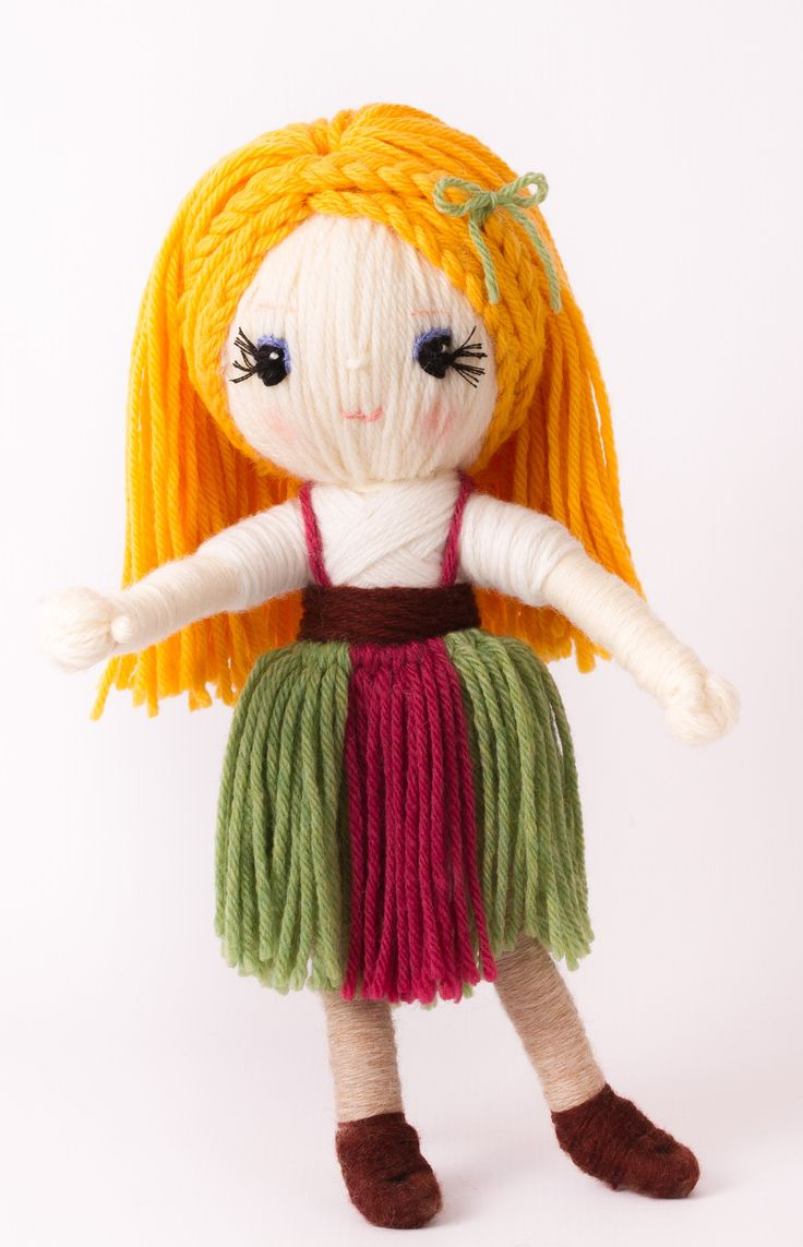 "Yarn craft ""Gretel"" from Yarn Whirled: Fairy Tales, Fables, and Folklore""."