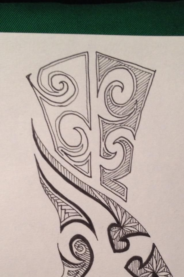 Fragment of a customized tattoo design