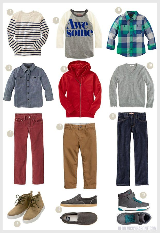 Back to School: Outfits for Boys   Vicky Barone