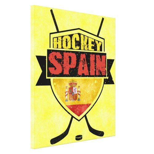 Spanish Ice Hockey Logo Box Canvas