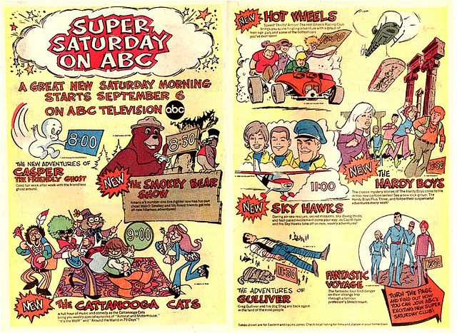 1969 Saturday Morning Cartoon Lineup on ABC | Saturday ...
