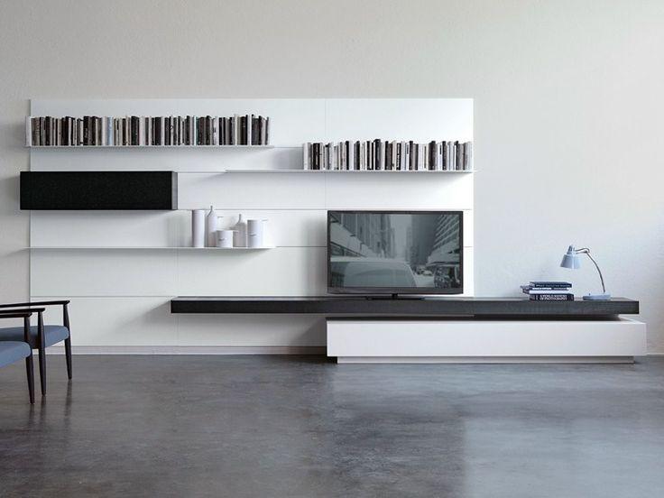 Parete attrezzata fissata a muro MODERN LOAD-IT Collezione Modern by Porro | design Piero Lissoni
