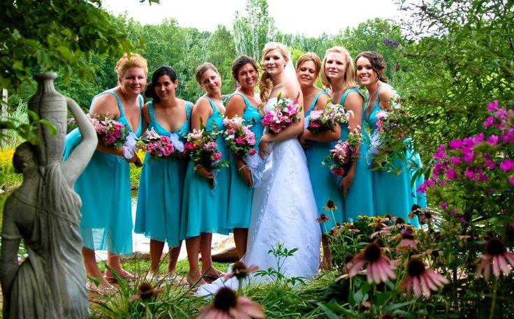 blue dresses for bridesmaids