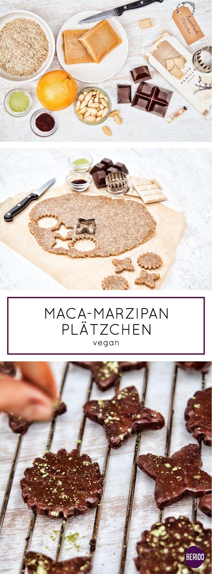 Weihnachtszeit ist Plätzchenzeit. Deshalb gibt es heute ein tolles  Superfood Plätzchen / Keks Rezept mit Maca Pulver und Marzipan, welches  nicht gebacken werden muss (no bake) und zudem glutenfrei und vegan ist!  Die Zutaten und das Rezept findet ihr auf unserer Website www.berioo.de